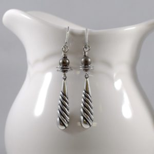 """Simply"" Silver Boho Chic Earrings"