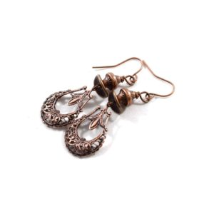 """Simply"" Copper Boho Chic Earrings"