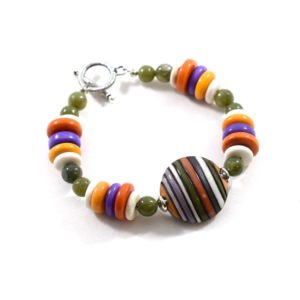 Chunky Multi Colored Stripe Bracelet