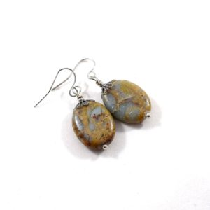 Impression Jasper and Silver Earrings