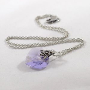 Tanzanite Purple Heart Necklace