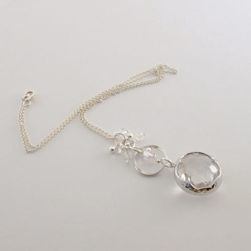 Swarovski Crystal With Sterling Silver Necklace