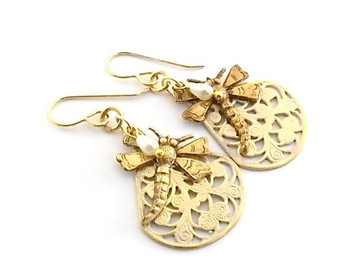 Vintaj Dragonfly Earrings