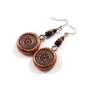 Copper Polymer Clay Earrings
