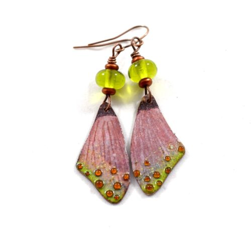 Pink Butterfly Wings Boho Chic Earrings