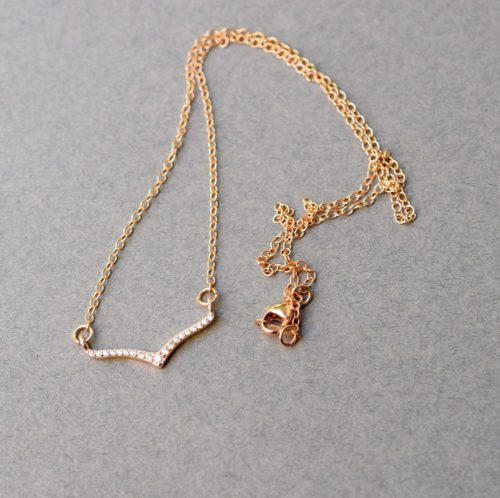 Choker In Rose Gold With CZ