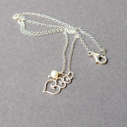 Stacked Three Heart Necklace