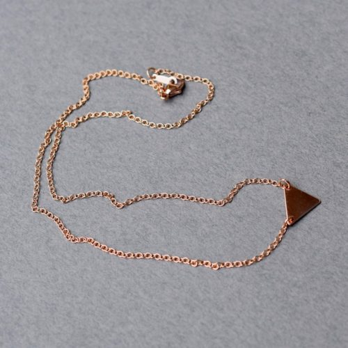 Geometric Triangle Rose Gold Choker, Triangle Choker, Triangle Necklace